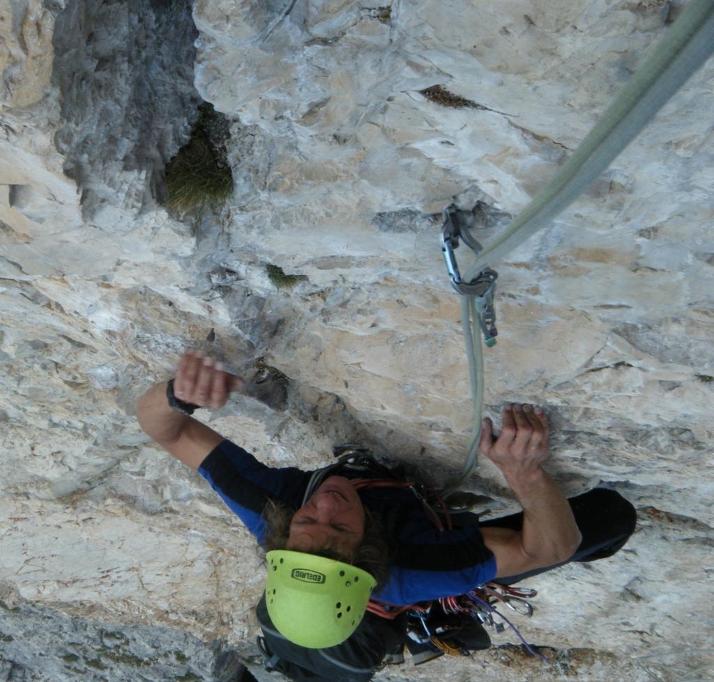 Hr. Alfred im Pilastropfeiler 7+ Dolomiten (Süd Tirol)